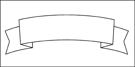 scroll banner outline