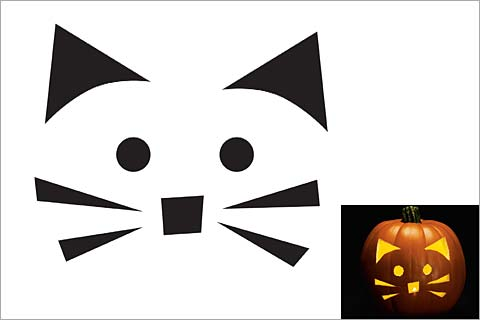 cat face template