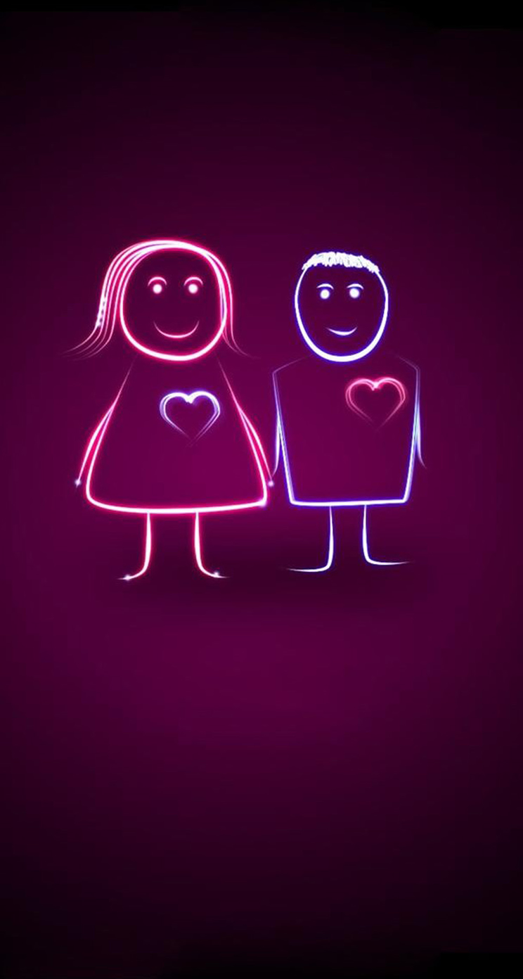 Lg Love couple Wallpaper : cute couple Wallpaper For Iphone - cliparts.co