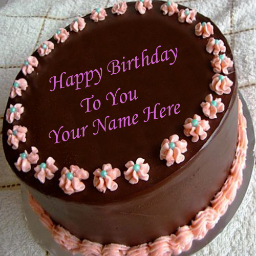 Cake Images With Name Preeti : Happy Birthday Chocolate Cake For Friend In Heart Shape ...