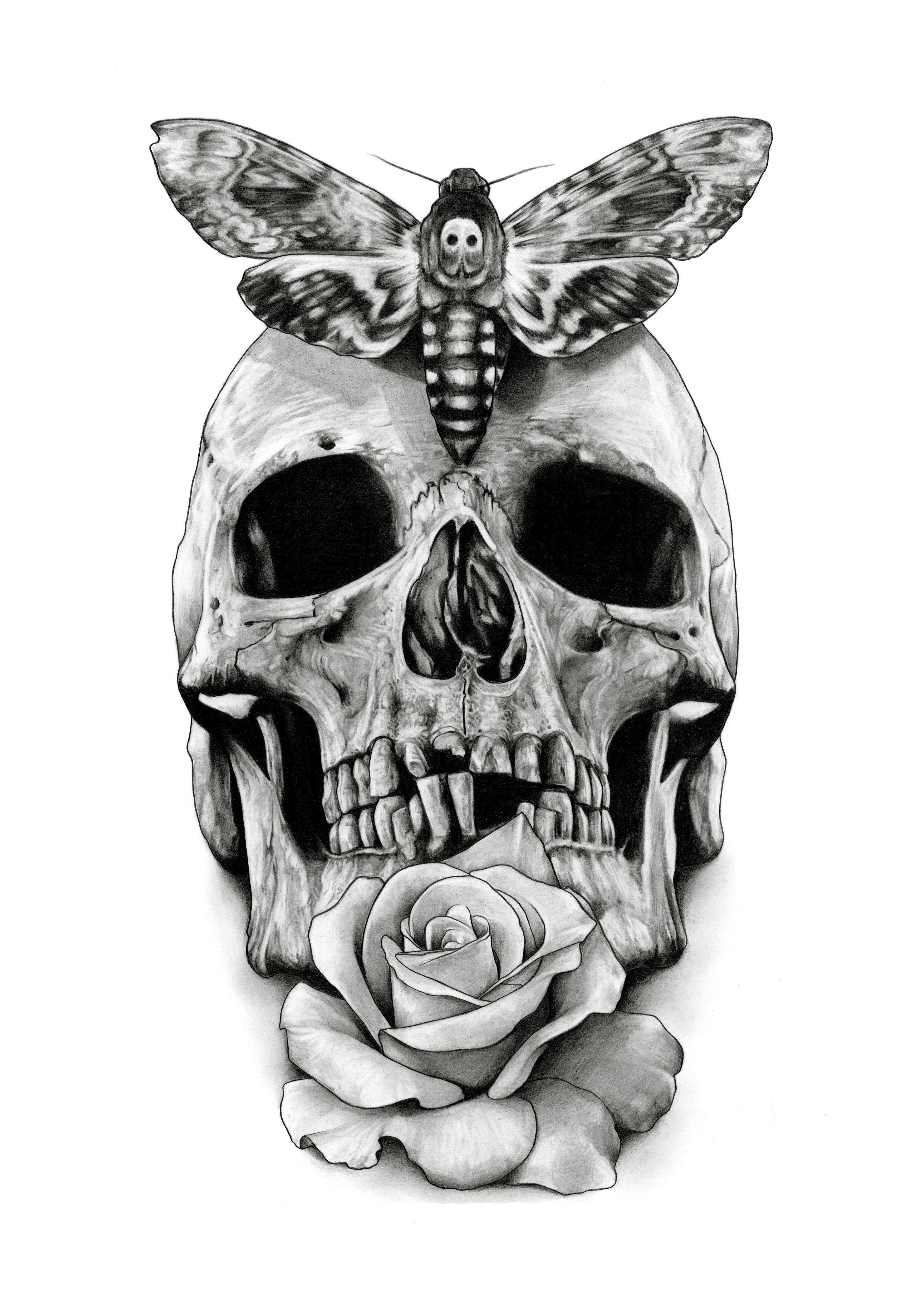 d46942081dde9 Skull Tattoo design drawing by AaronKingIllustrator on DeviantArt