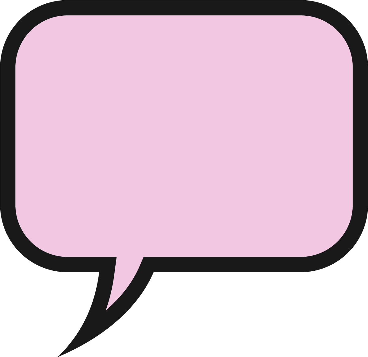 this is a speech bubble in the shape of a rounded rectangle - icon png -  Free PNG Images | TOPpng