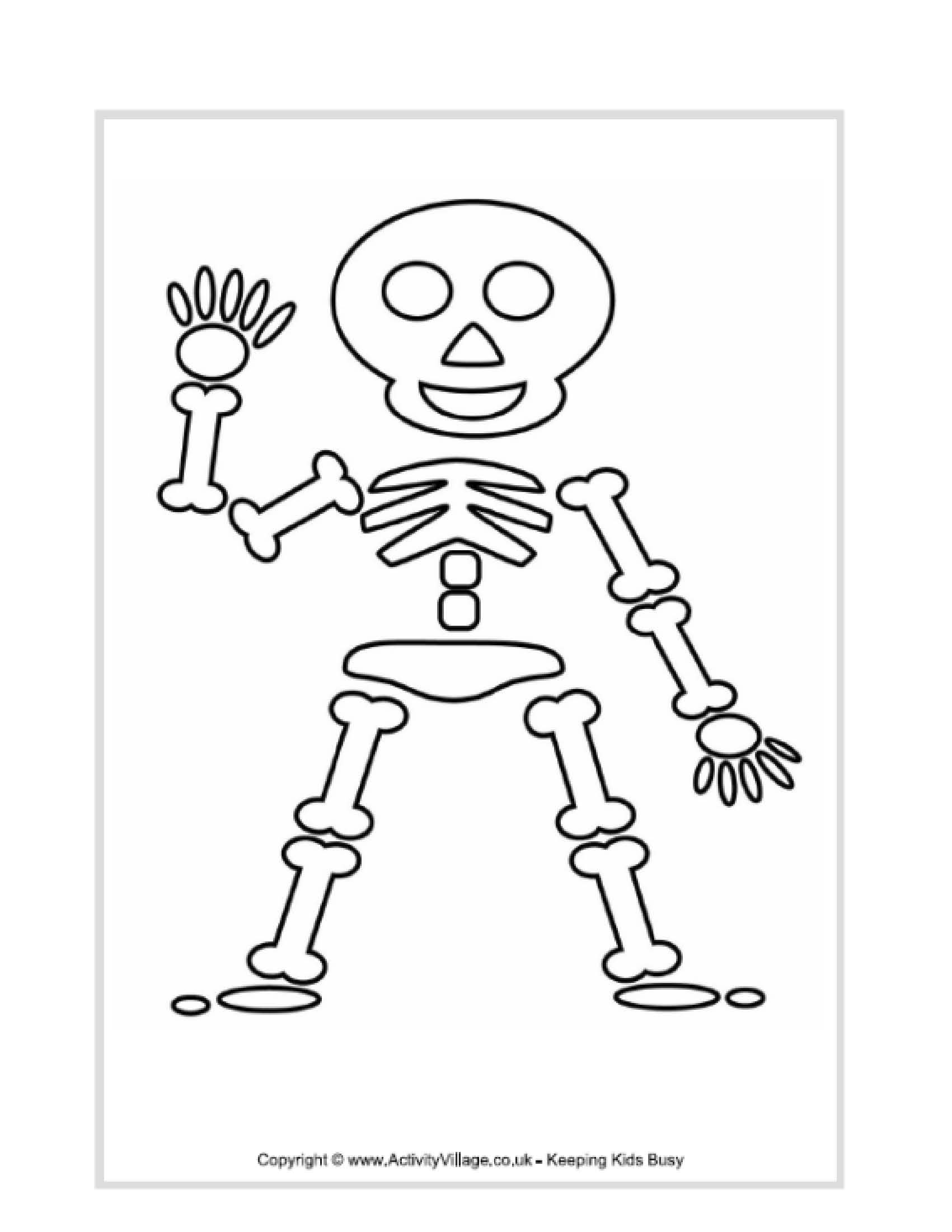 preschool body coloring pages - photo#14