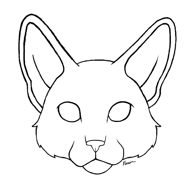 Line Drawing Face Clipart : Cute cat face drawing cliparts