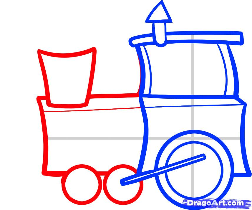 How to Draw a Train for Kids  How To Draw A Train For Kids Step By Step