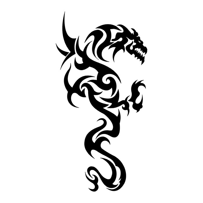 Black And White Dragon Tattoos - Cliparts.co