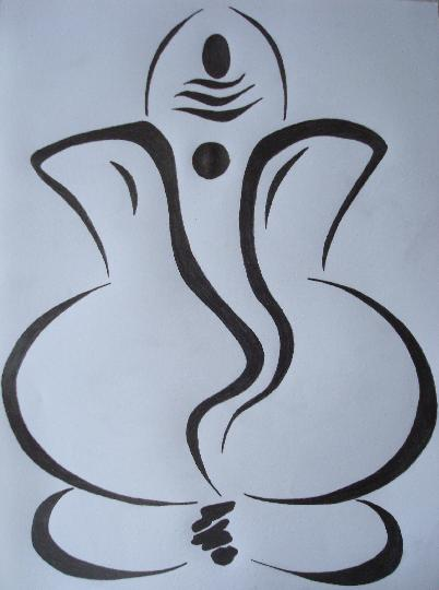 Ganesh Ji Sketch - Cliparts.co