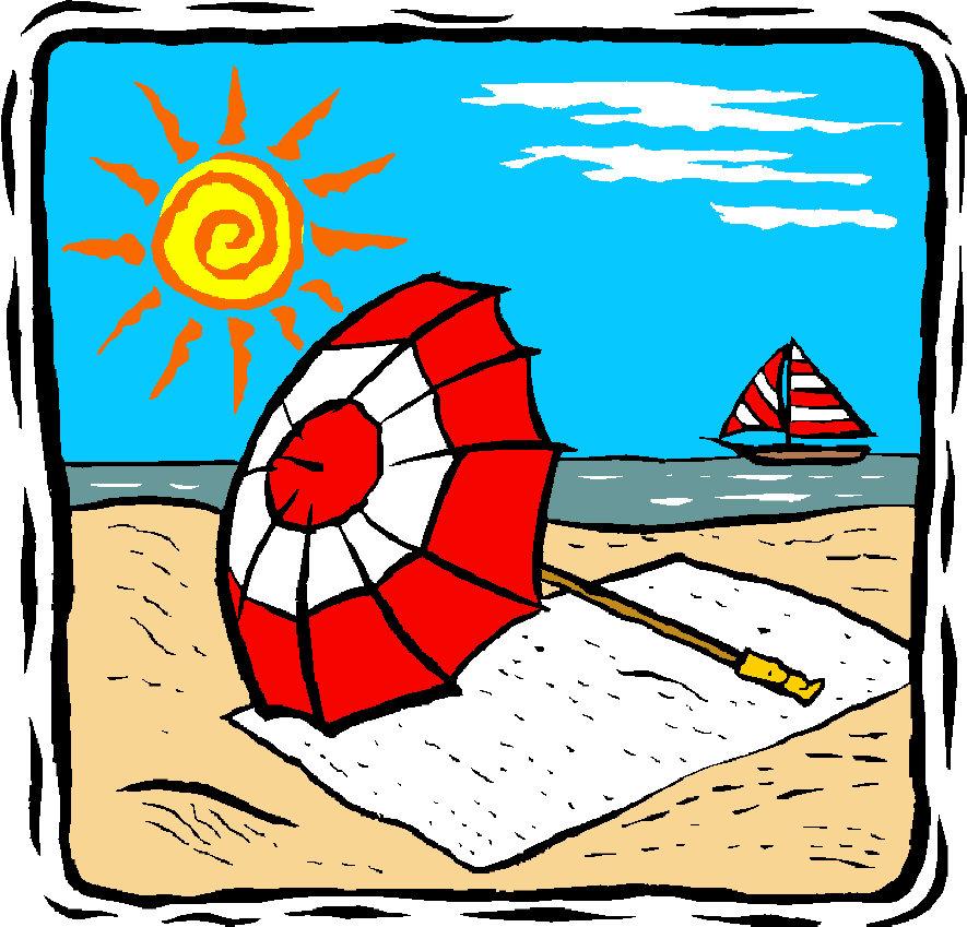 Beach Umbrella Cartoon - Cliparts.co