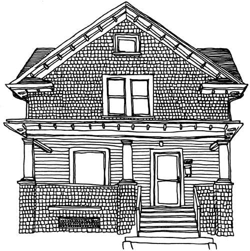 Line Art Images Of Houses : Image of a house cliparts