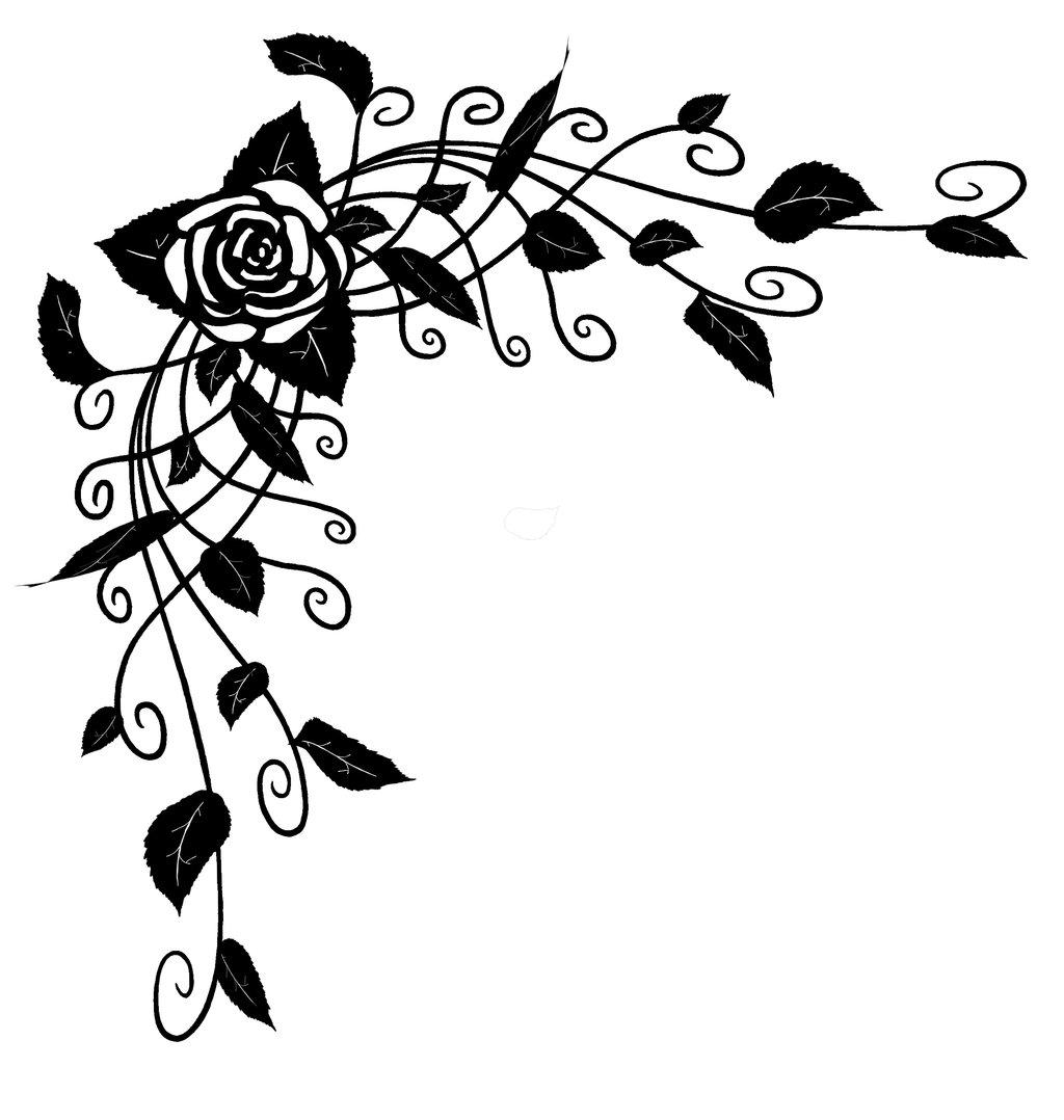Rose Vines Drawings Clipartsco