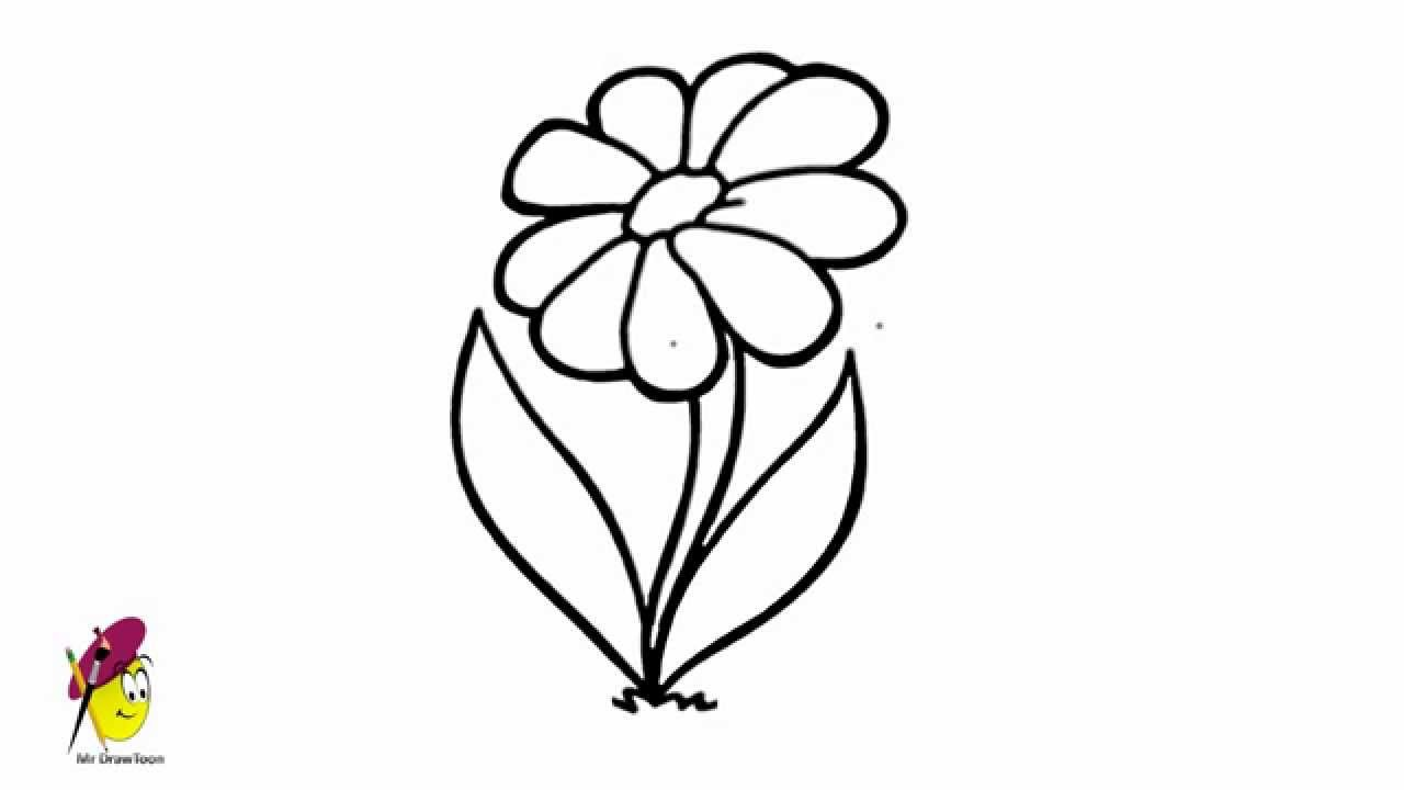 simple flower drawing cliparts co