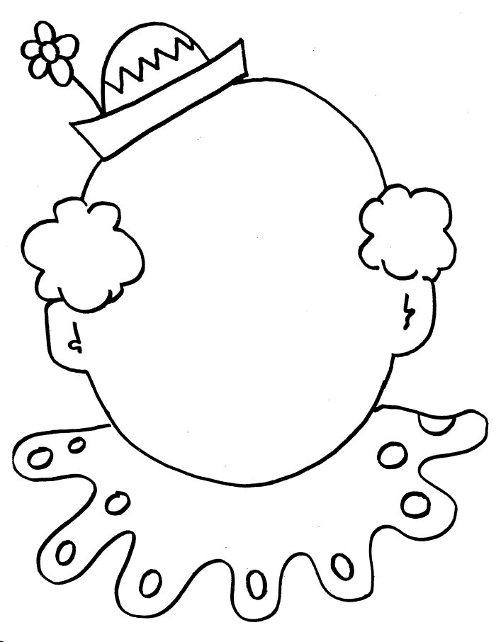circus clown face coloring sheet | thingkid.