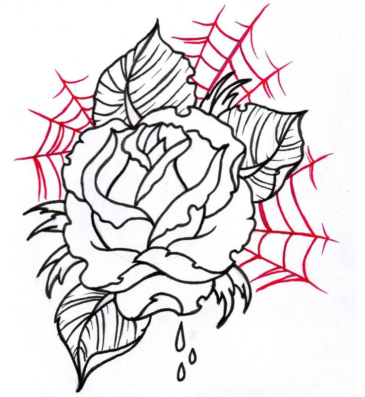 Flower tattoo design | Heart Tattoos | Pinterest