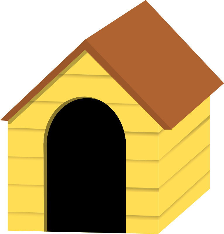 clipart of dog houses - photo #7