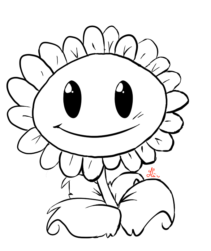 Line Drawing Sunflower : Line drawing sunflower imgkid the image kid