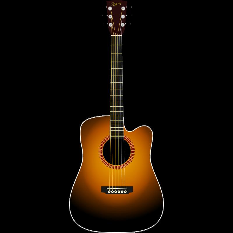 acoustic guitar clip art clipartsco