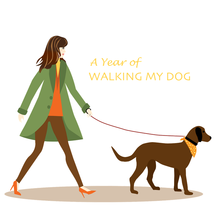 how to draw a person walking a dog