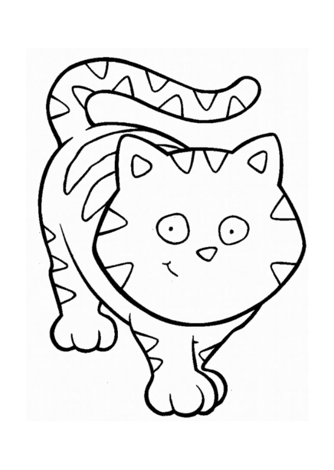 funny cat cartoon animal coloring pages | thingkid.
