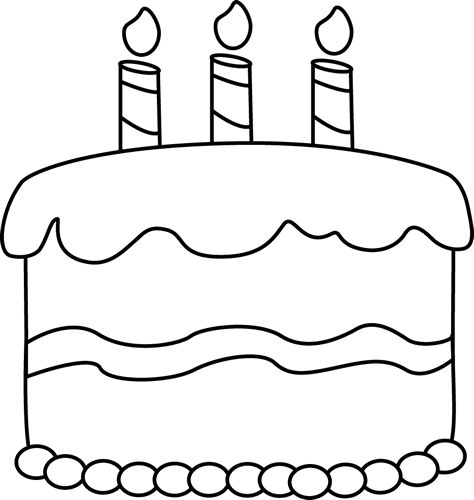 Birthday Cake Outline Clipart