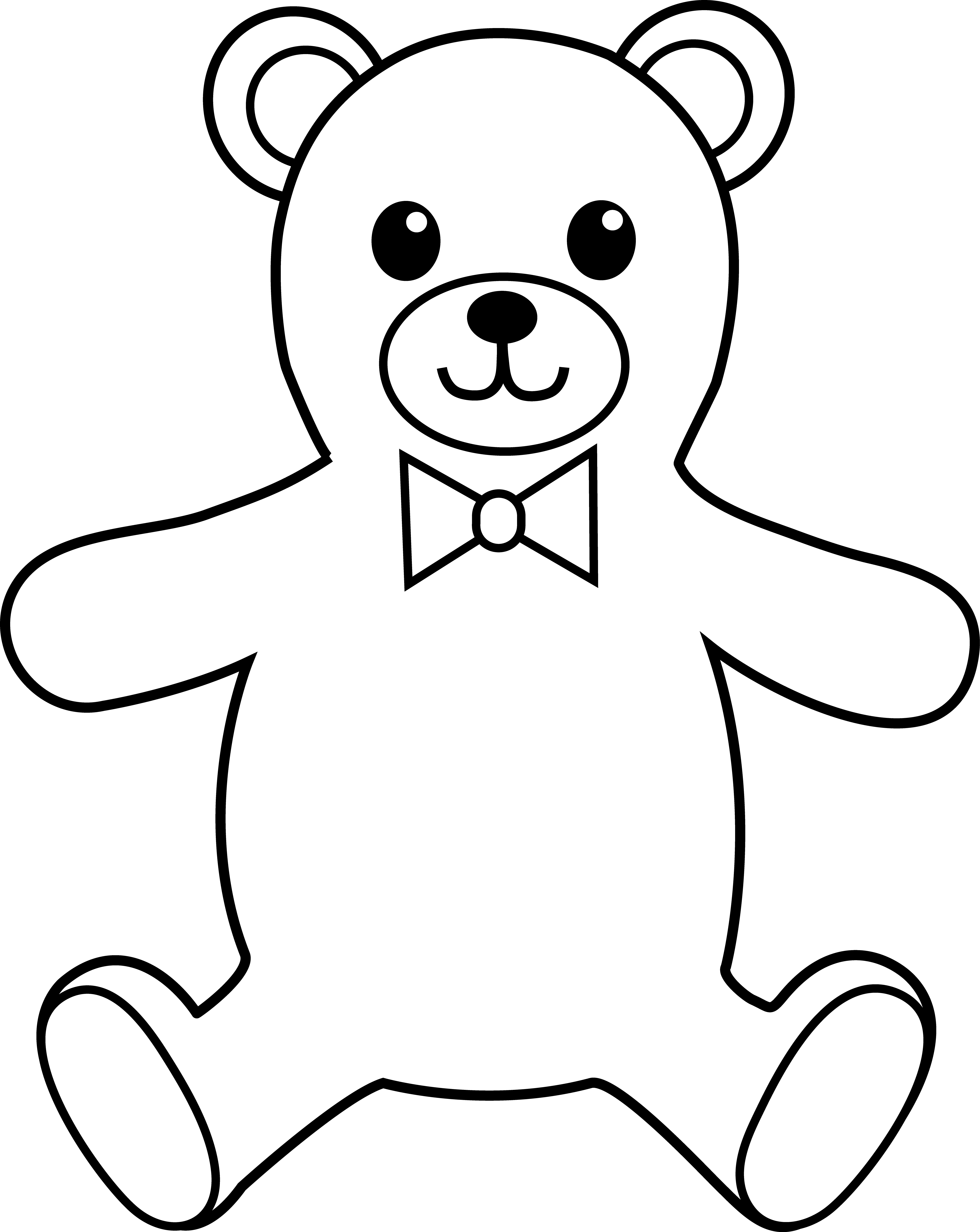 Teddy bear outline template - crazywidow.info