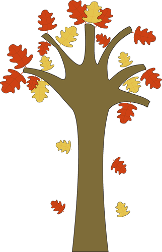 clip art of tree with falling leaves - photo #11