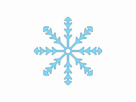 More free snowflake clip art PowerPoint Template