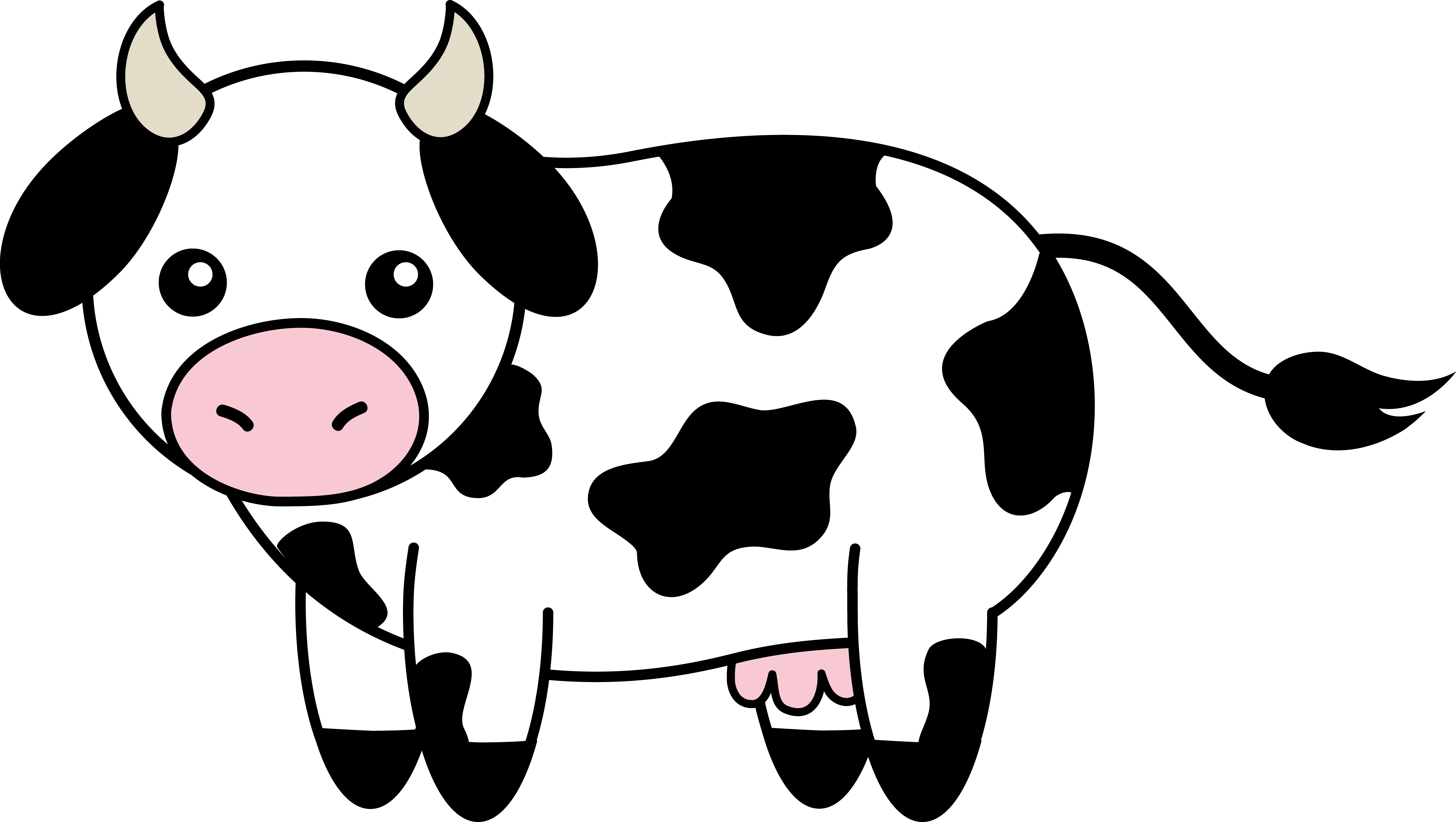 Black cow head clipart - photo#13