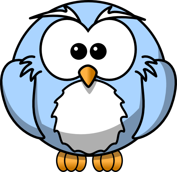 Blue Cartoon Owl clip art - vector clip art online, royalty free ...