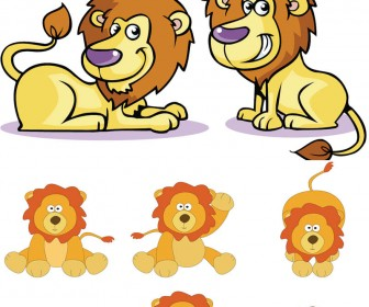 Cartoon lion vector | Vector Graphics Blog