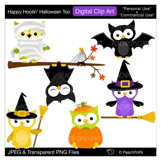 Popular items for digital clip art owl on Etsy