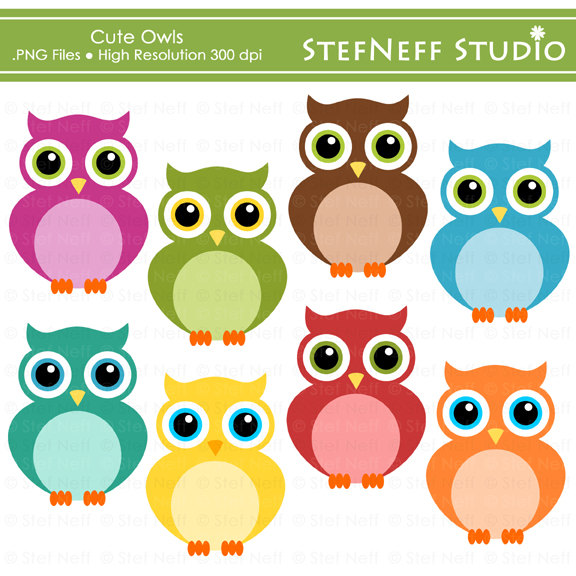 Digital Download Discoveries for OWL CLIPART from EasyPeach.