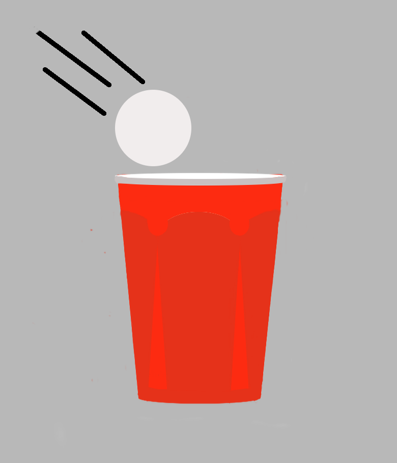Beer pong vector art
