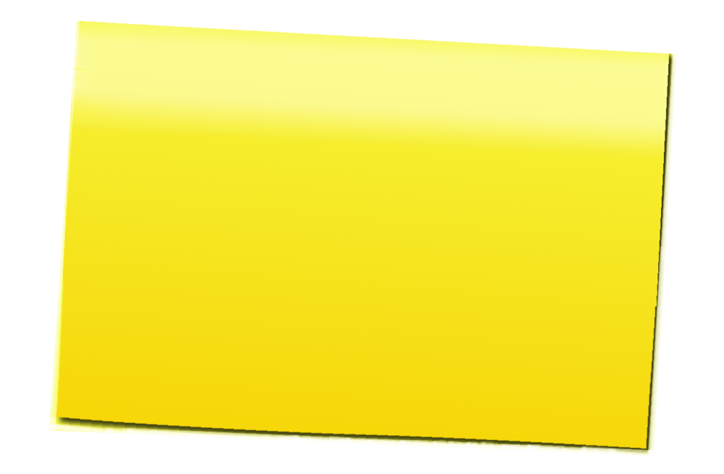 Yellow Post It Png