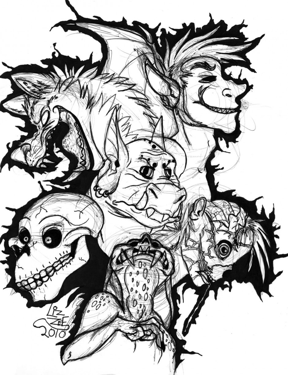 Scary Monster Drawings Clipart Panda Free Clipart Images Cliparts Co