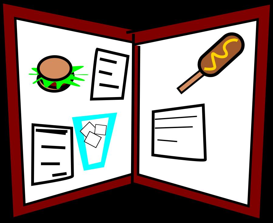 restaurant menu clipart - photo #1