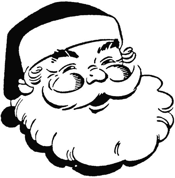 Santa Face Picture - Cliparts.co