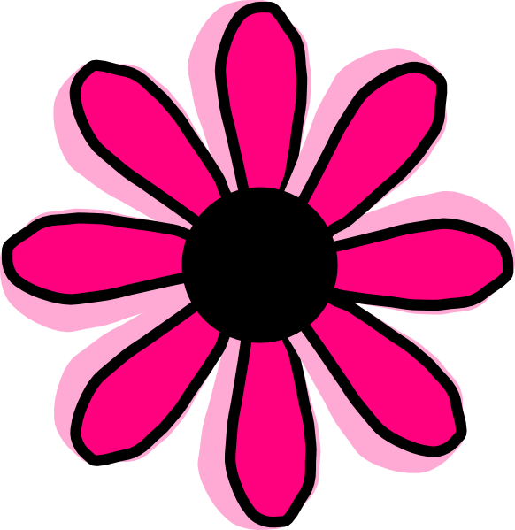 Pink Flower 12 clip art - vector clip art online, royalty free ...
