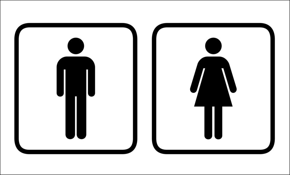 Men Women Bathroom Sign Clipart - Mens bathroom sign