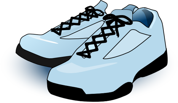 Tennis Shoes clip art - vector clip art online, royalty free ...