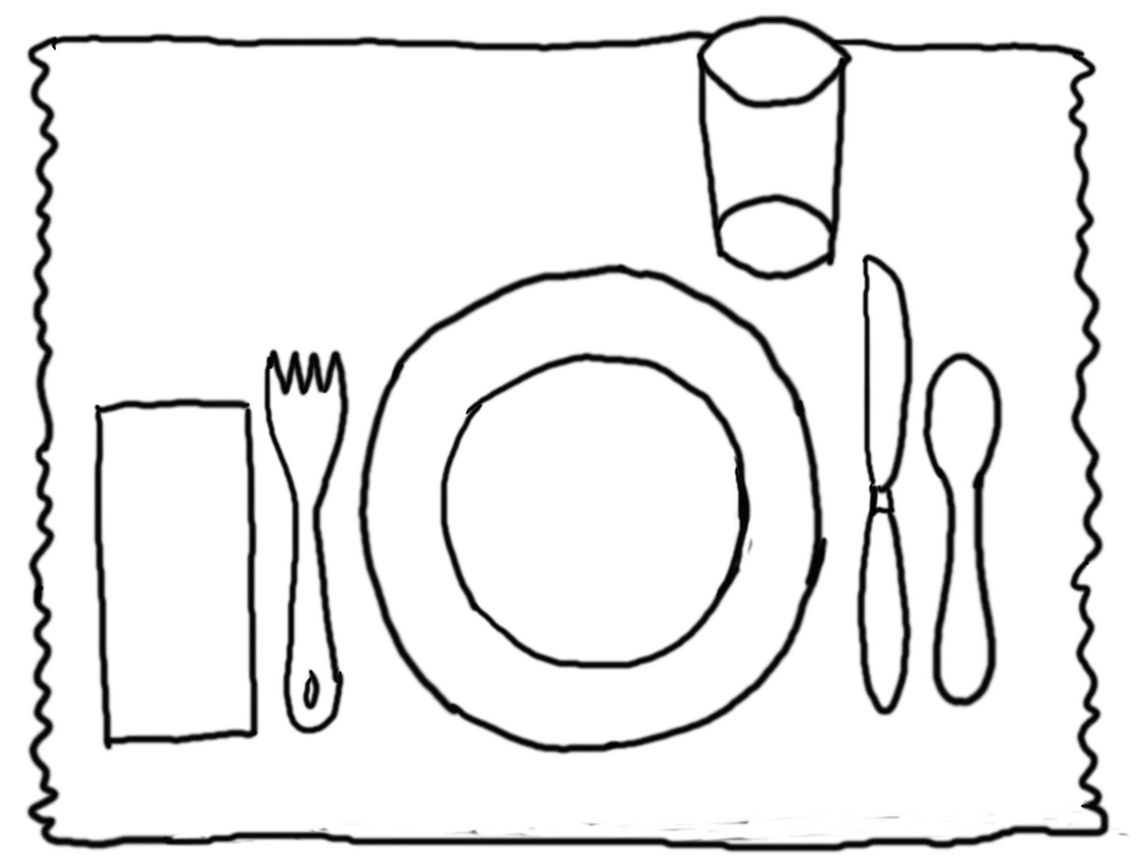 table setting coloring pages - photo #2