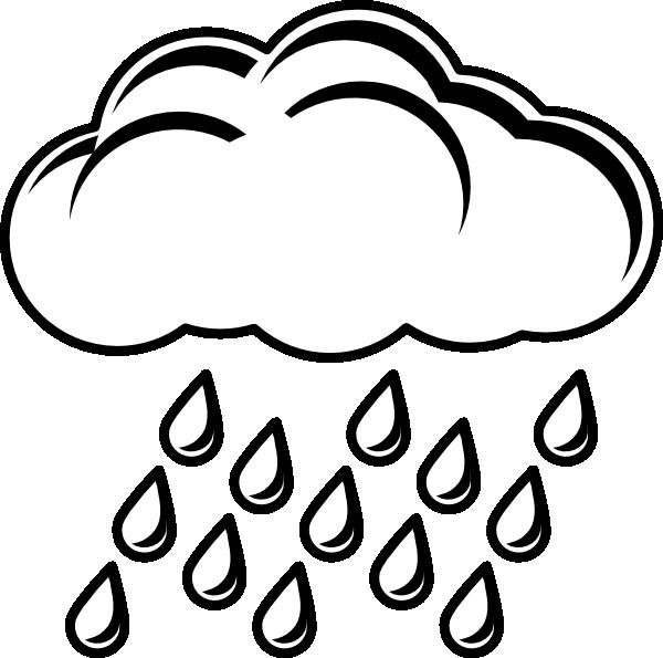 Cloud With Rain Outlin...