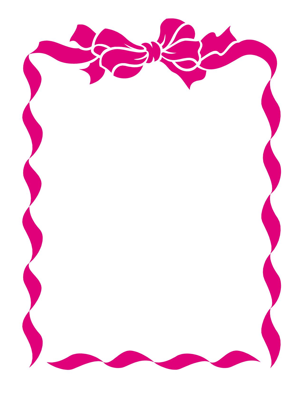 Breast Cancer Ribbon Border - Cliparts.co