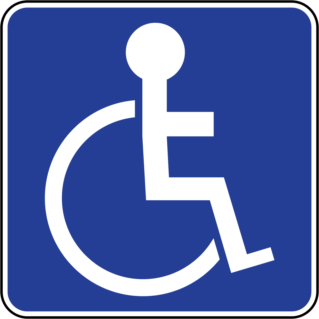 Dynamic image intended for printable handicap signs