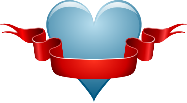 Heart Ribbon clip art - vector clip art online, royalty free ...: cliparts.co/hearts-with-ribbons