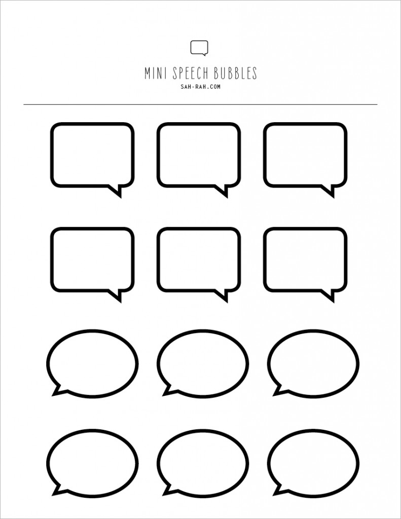 It's just a photo of Gorgeous Speech Bubble Printable