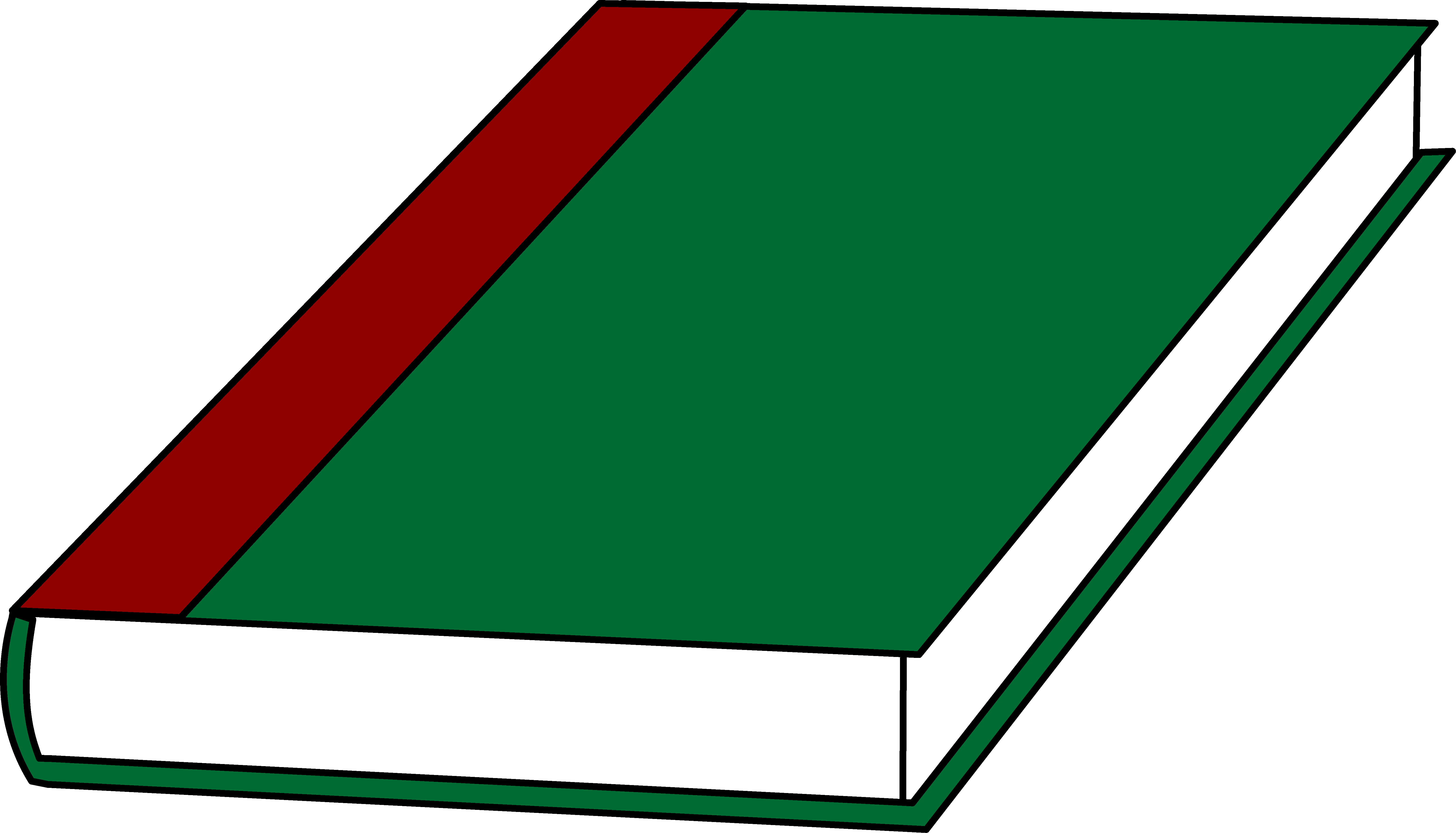 A Book With a Green Cover - Free Clip Art