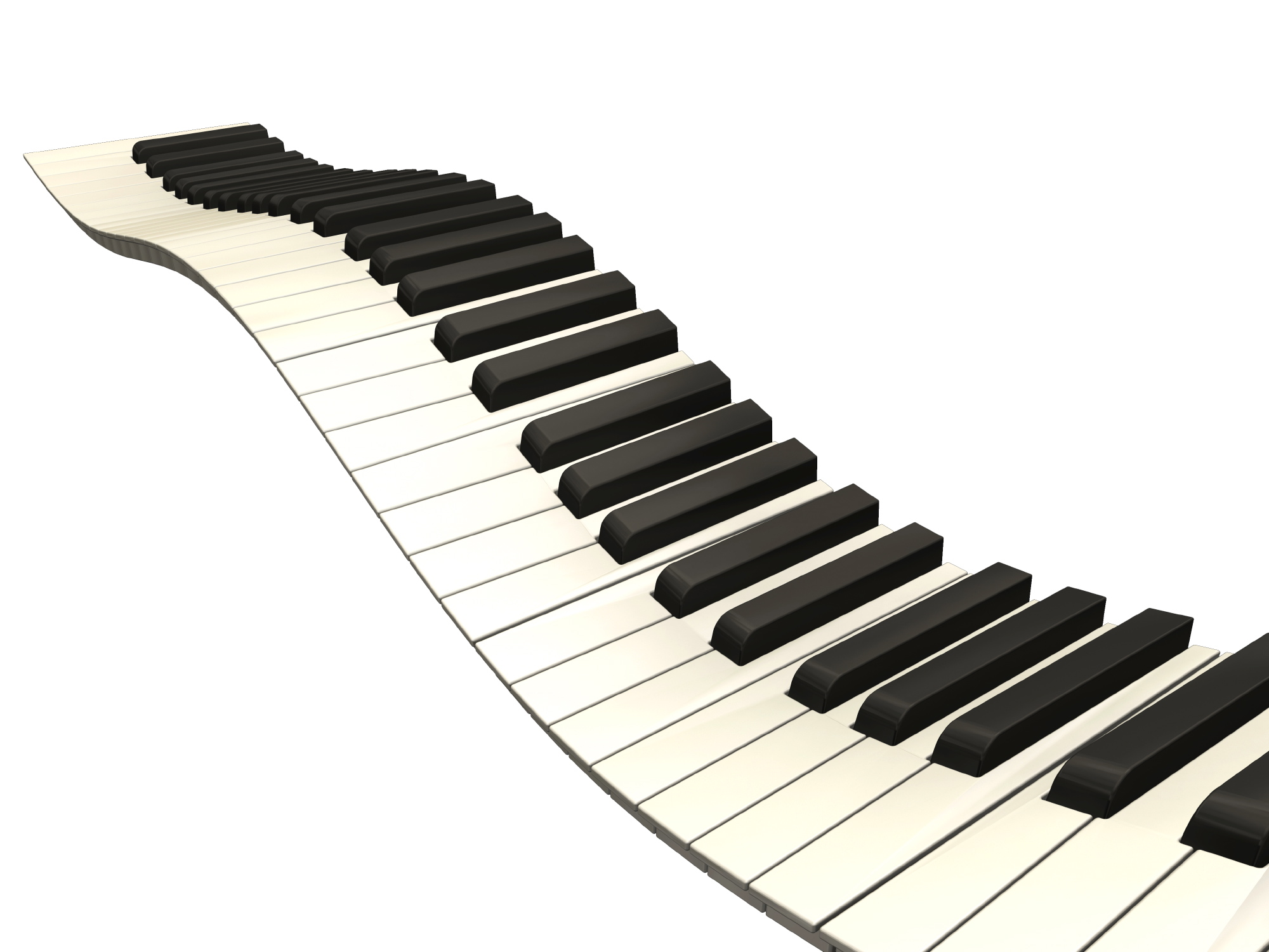 Images For > Wavy Piano Keys Png