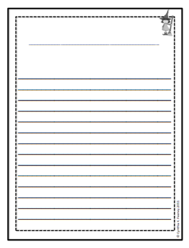 Third grade writing paper with borders for Writing templates for 3rd grade