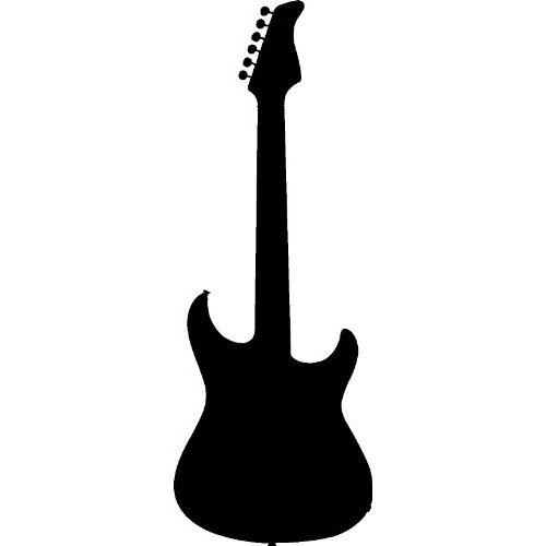 Guitar Silhouette - ClipArt Electric Guitar Outline Clipart