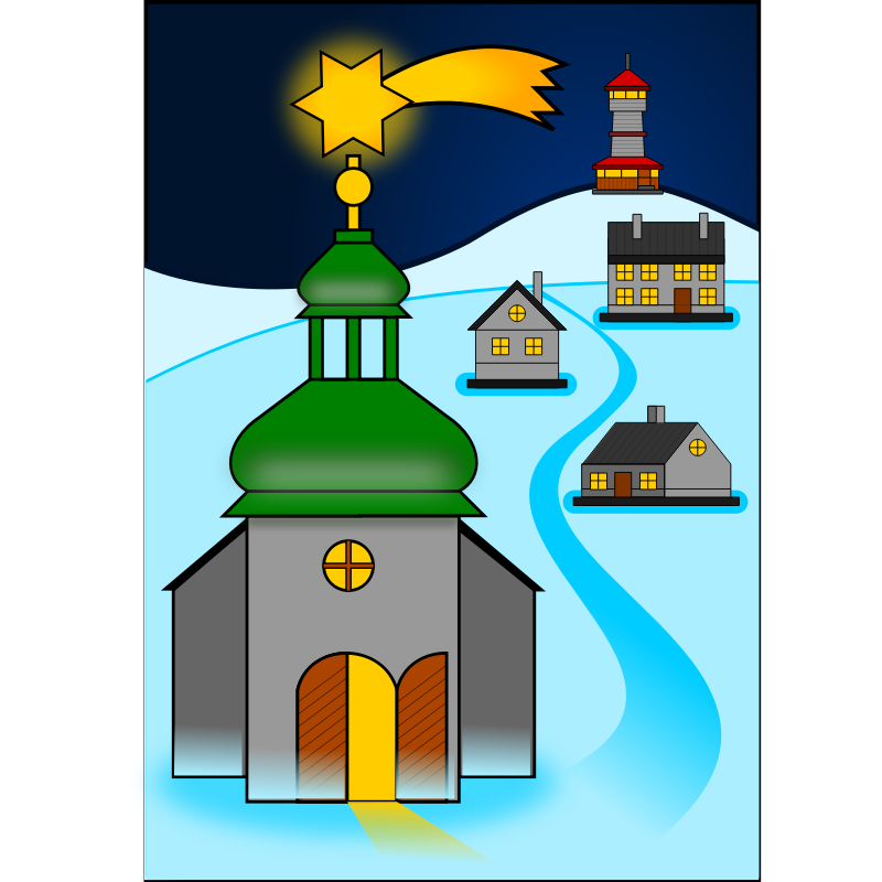 Clipart - Christmas scenery